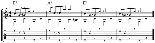 Easy Acoustic Blues Pattern 3.1
